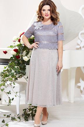 Платье Mira Fashion 4793 серебро