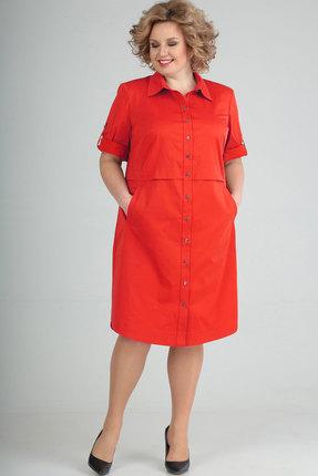 Платье Elga 01-641.1 красный фото