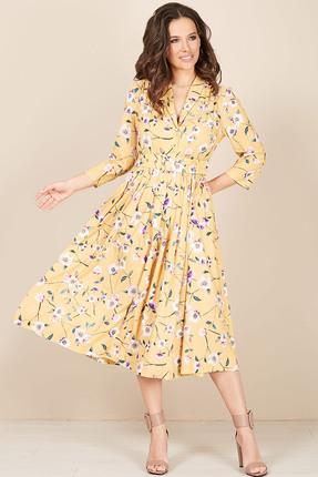 Платье Teffi style 1425/1 желтый фото