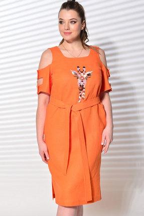 Платье MALI 419-028 оранжевый фото