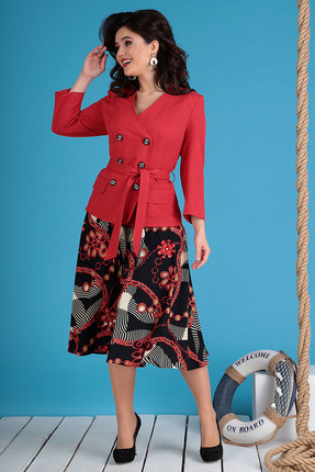 Комплект юбочный Мода-Юрс 2470 красные тона фото