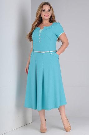 Платье Vasalale 644 бирюзовые тона фото