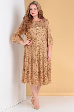 Платье Moda-Versal 2176 горчица фото