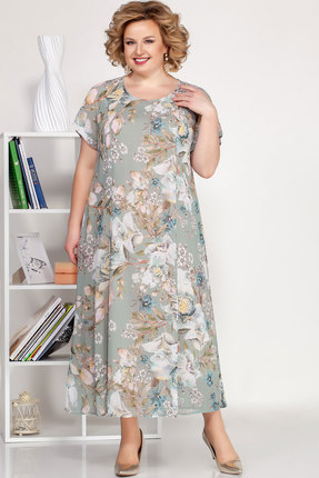 Платье Ivelta plus 1688 серо-голубое тона
