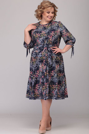 Платье Асолия 2466.1 тёмно-синий