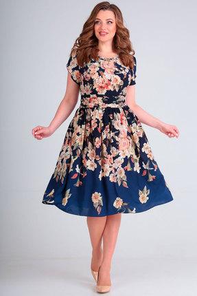 Платье Асолия 2324 яблочные цветы