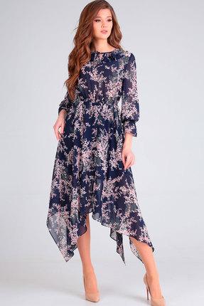 Платье Асолия 2472 тёмно-синий