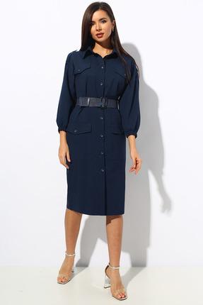 Платье Миа Мода 1144 темно-синий