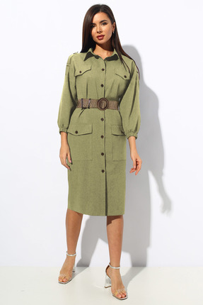 Платье Миа Мода 1144-1 оливковый
