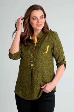 Блузка Таир-Гранд 62274-1 зеленые тона фото