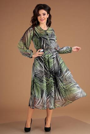 Платье Мода-Юрс 2547 зеленые тона фото