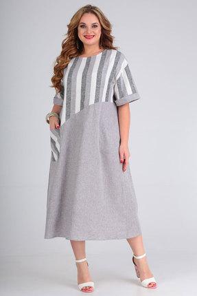 Платье Andrea Style 00265 серый фото