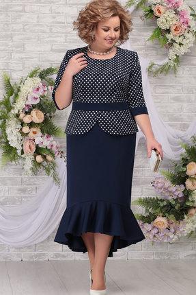 Платье Ninele 7280 тёмно-синий