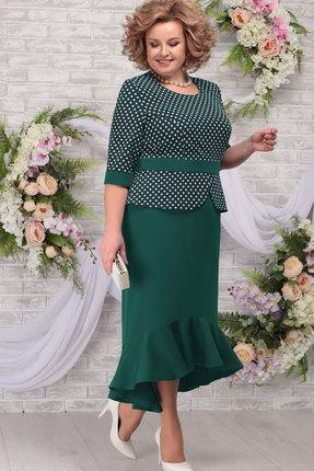 Платье Ninele 7280 изумруд