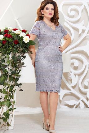Платье Mira Fashion 4802 серые тона