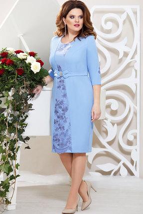 Платье Mira Fashion 4761 голубой
