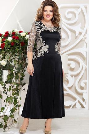 Платье Mira Fashion 4746 чёрный+золото
