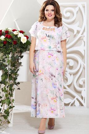 Платье Mira Fashion 4399 светлые тона