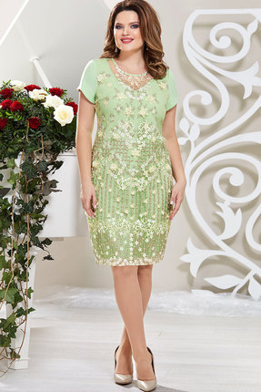 Платье Mira Fashion 4611-2 салатовый