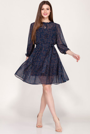 Платье Emilia А-498/3 синий фото