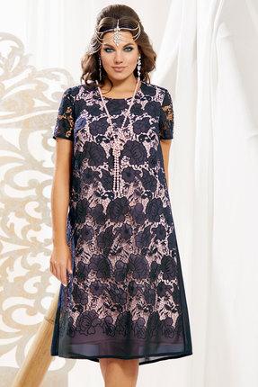 Платье Vittoria Queen 10893/1 темно-синий с розовым фото