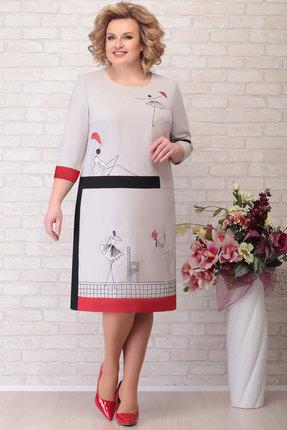 Платье Aira Style 752 серый