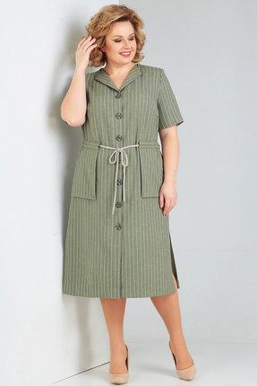 Платье Милора-Стиль 784 хаки