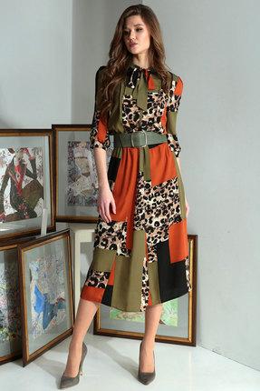 Платье Axxa 55122б мультиколор