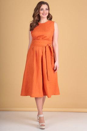 Платье Flovia 4026 оранжевый фото