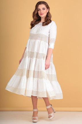 Платье Flovia 4027 молочный фото