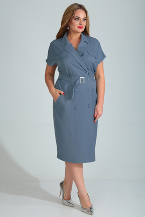 Платье Диамант 1524 синий