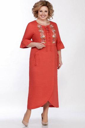 Платье LaKona 1285 терракотовый фото