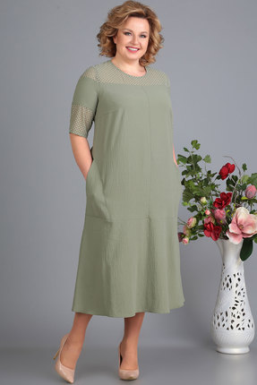 Платье Algranda 3258-2 олива фото