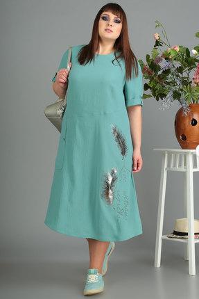 Платье Algranda 3445 бирюза фото