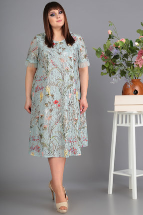 Платье Algranda 3501 серо-голубые тона