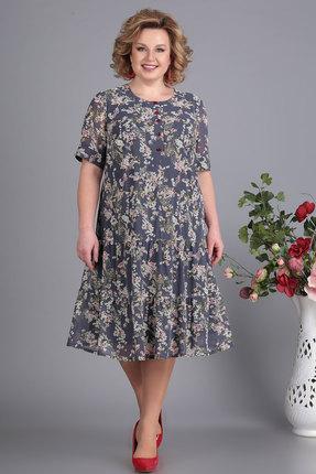 Платье Algranda 3497 серые тона фото