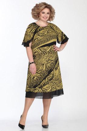 Платье Matini 31392 черный с желтым