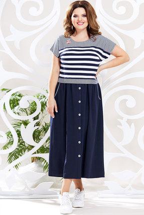 Платье Mira Fashion 4800 тёмно-синий фото