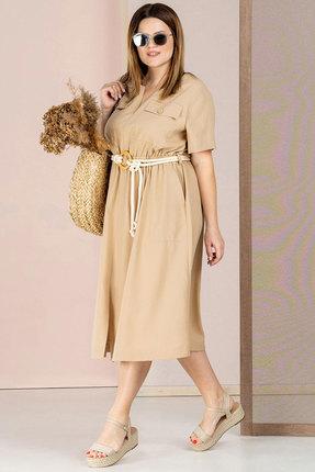 Платье Deesses 1041 бежевый