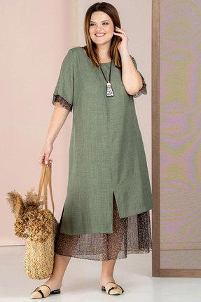 Платье Deesses 1043/1 хаки фото