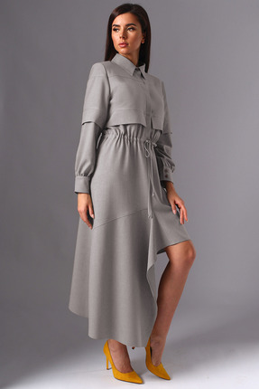 Платье Миа Мода 1137-2 серые тона