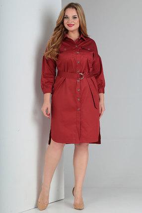 Платье Ollsy 1526 бордовые тона
