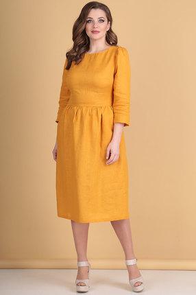 Платье Flovia 4031 горчица фото