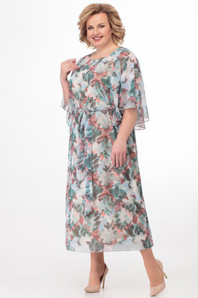 Платье Anelli 679 голубые тона