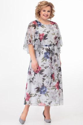 Платье Anelli 679 серые тона