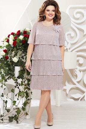 Платье Mira Fashion 4389-8 пудра
