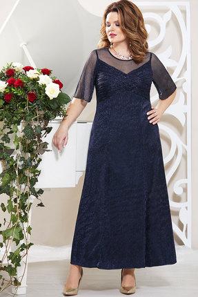 Платье Mira Fashion 4779-2 тёмно-синий
