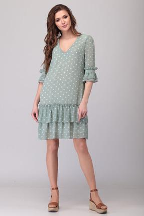 Платье Verita Moda 2068 бирюзовые тона фото