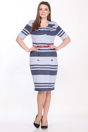 Платье Juliet Style 102-1 разноцвет в полоску фото