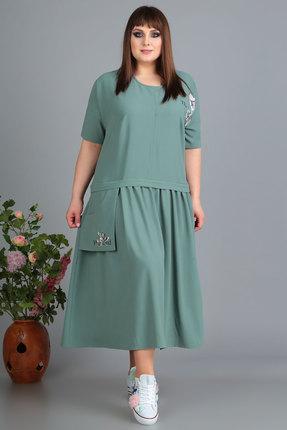 Платье Algranda 3489 зеленые тона фото